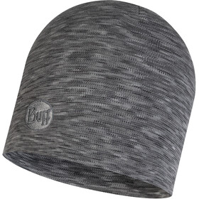 Buff Heavyweight Merino Wool Gorra Normal, fog grey multi stripes